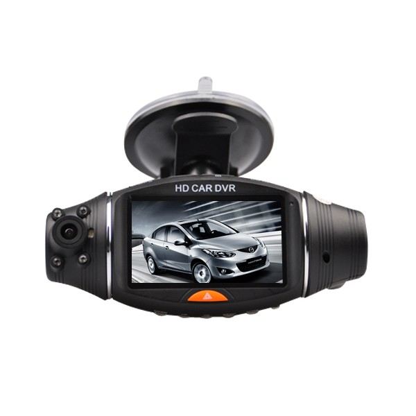cam ra voiture hd double lentille tracker gps camera. Black Bedroom Furniture Sets. Home Design Ideas