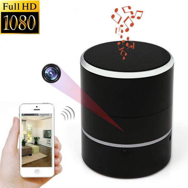haut parleurs bluetooth cam ra espion wifi camera. Black Bedroom Furniture Sets. Home Design Ideas